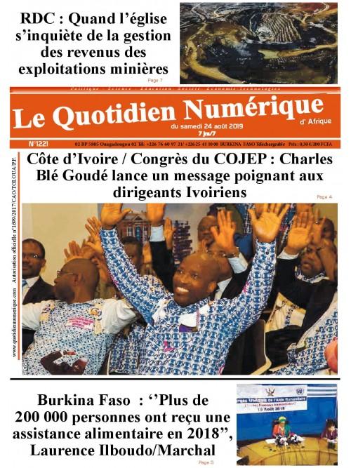 QUOTIDIEN NUMERIQUE D AFRIQUE  24/08/2019