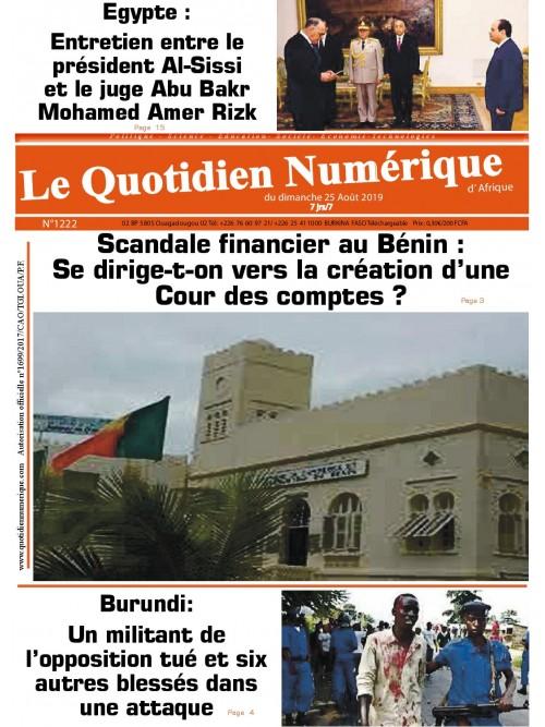QUOTIDIEN NUMERIQUE D AFRIQUE  25/08/2019