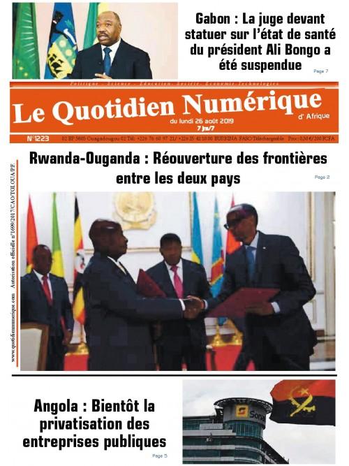 QUOTIDIEN NUMERIQUE D AFRIQUE  26/08/2019