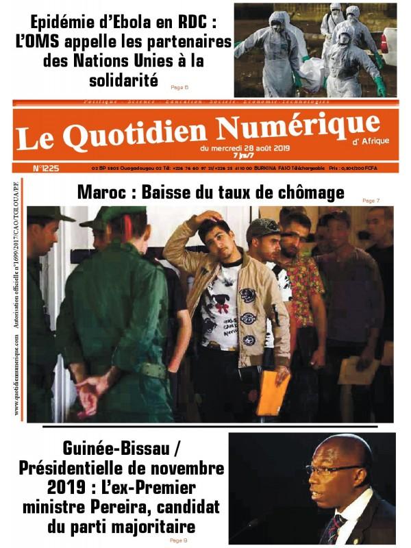 QUOTIDIEN NUMERIQUE D AFRIQUE  28/08/2019
