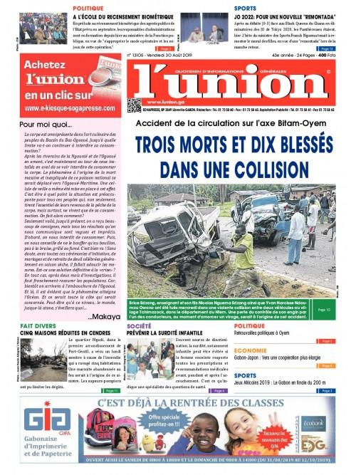 L'Union 30/08/2019
