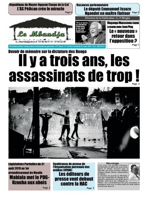 Le Mbandja 30/08/2019