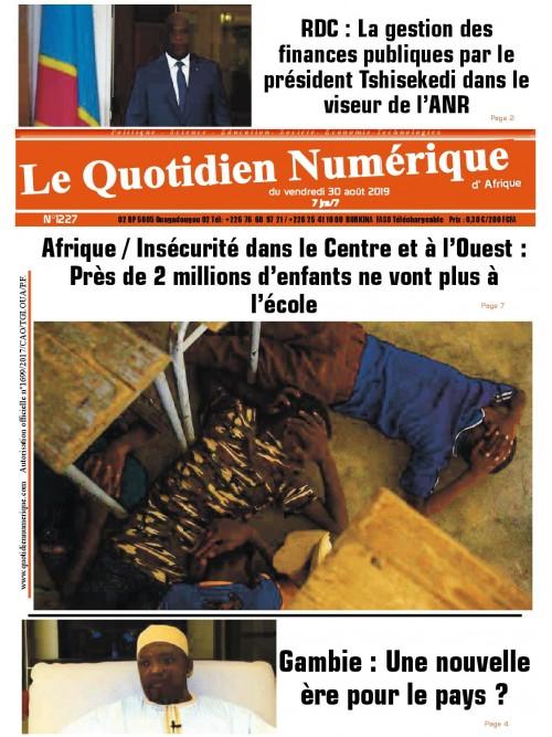 QUOTIDIEN NUMERIQUE D AFRIQUE  30/08/2019