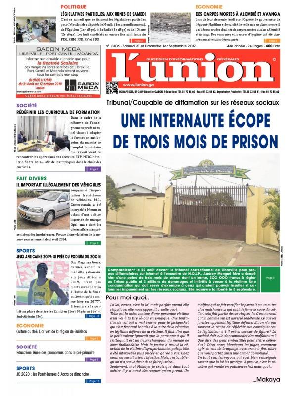 L'Union 31/08/2019