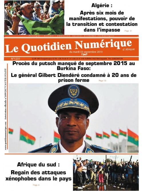QUOTIDIEN NUMERIQUE D AFRIQUE  03/09/2019