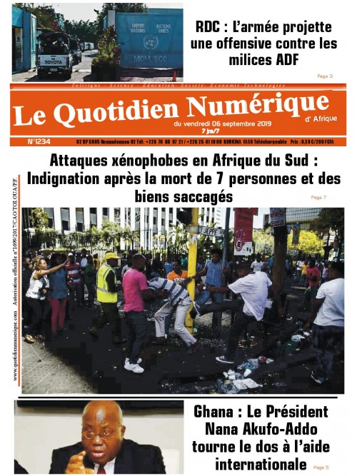 QUOTIDIEN NUMERIQUE D AFRIQUE  06/09/2019
