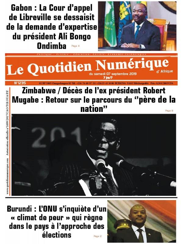 QUOTIDIEN NUMERIQUE D AFRIQUE  07/09/2019