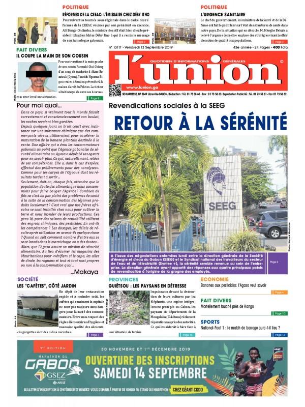 L'Union 13/09/2019