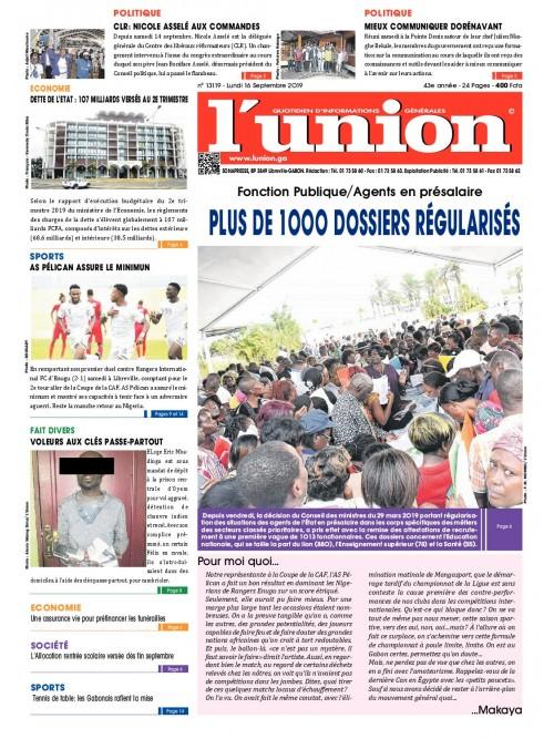 L'Union 16/09/2019