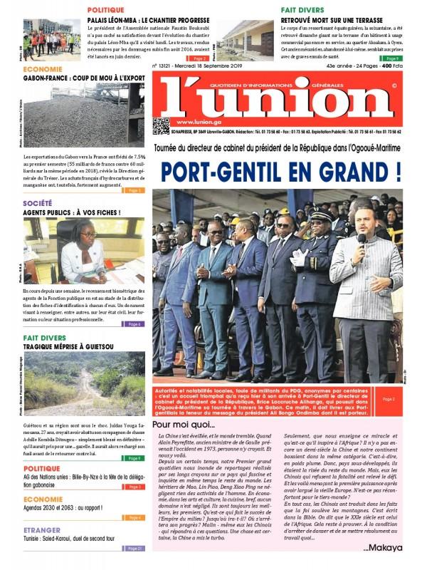 L'Union 18/09/2019