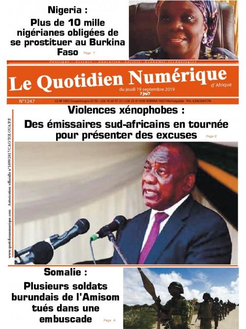 QUOTIDIEN NUMERIQUE D AFRIQUE  19/09/2019