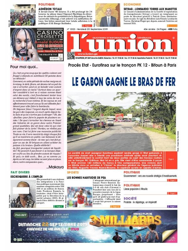 L'Union 20/09/2019