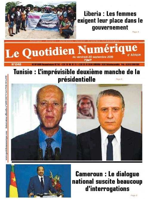 QUOTIDIEN NUMERIQUE D AFRIQUE  20/09/2019