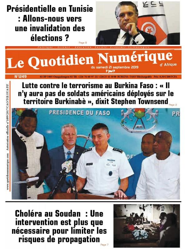 QUOTIDIEN NUMERIQUE D AFRIQUE  21/09/2019