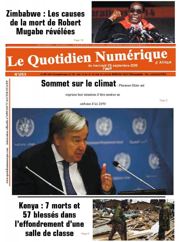 QUOTIDIEN NUMERIQUE D AFRIQUE  25/09/2019