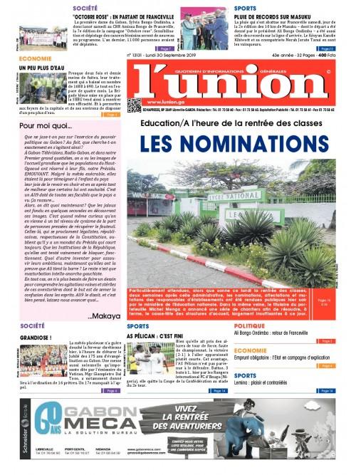 L'Union 30/09/2019