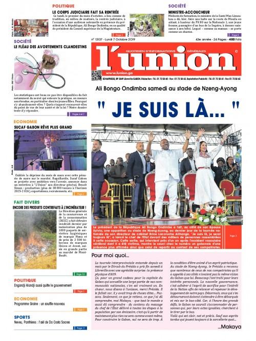 L'Union 07/10/2019
