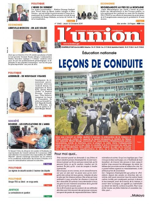 L'Union 10/10/2019