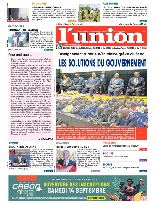 L'Union 15/10/2019