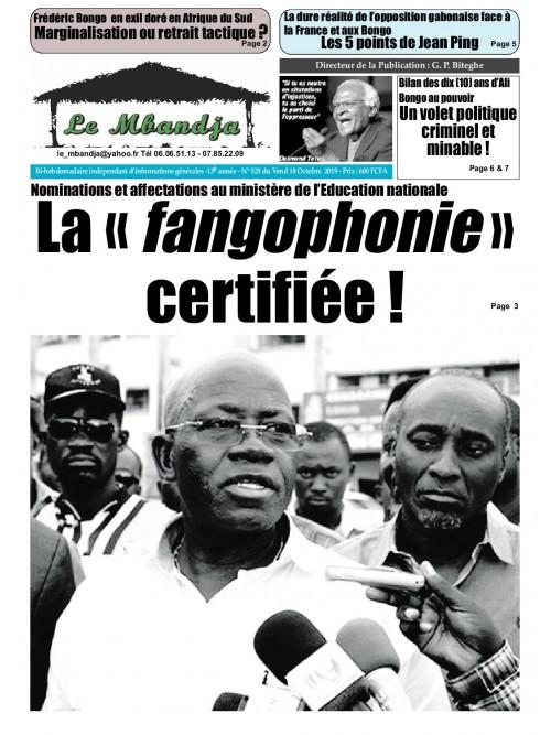 Le Mbandja 18/10/2019