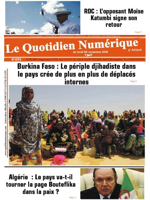 QUOTIDIEN NUMERIQUE D AFRIQUE  04/11/2019