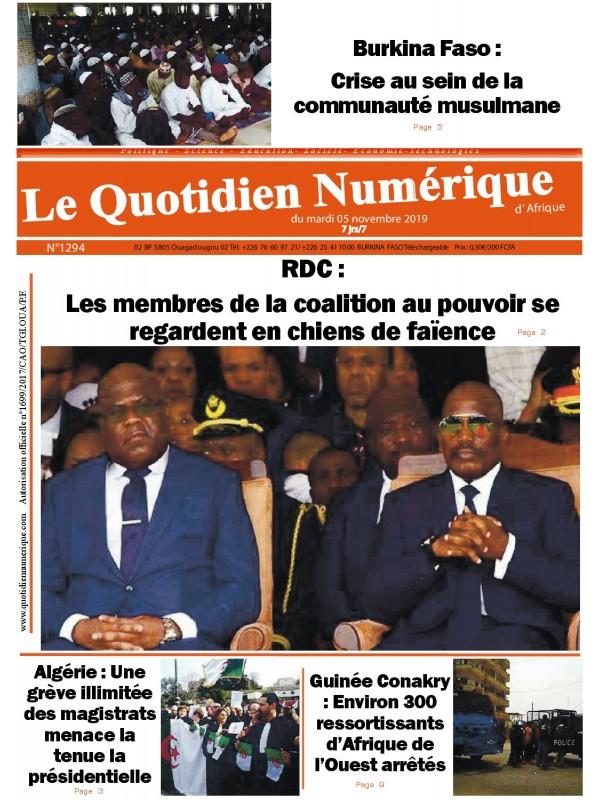 QUOTIDIEN NUMERIQUE D AFRIQUE  05/11/2019