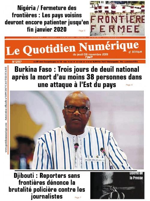 QUOTIDIEN NUMERIQUE D AFRIQUE  08/11/2019