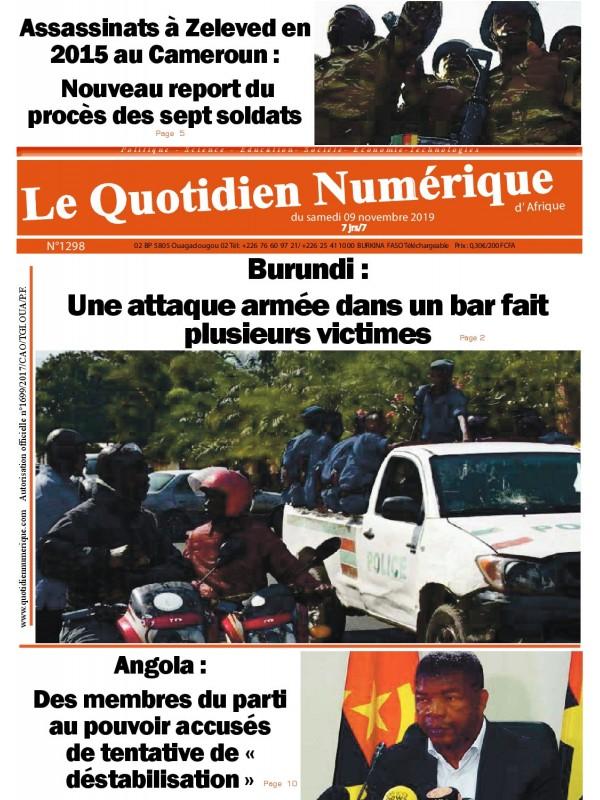 QUOTIDIEN NUMERIQUE D AFRIQUE  09/11/2019