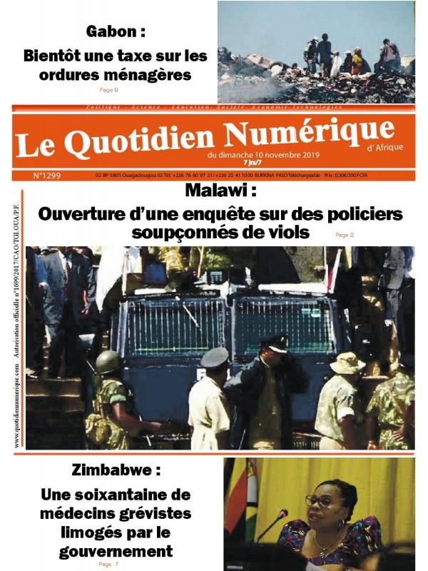 QUOTIDIEN NUMERIQUE D AFRIQUE  10/11/2019