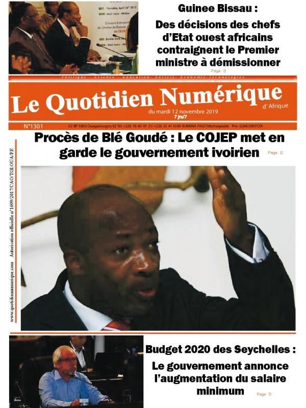 QUOTIDIEN NUMERIQUE D AFRIQUE  12/11/2019