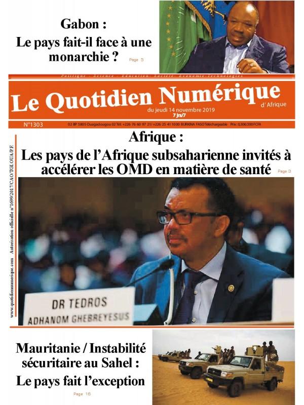 QUOTIDIEN NUMERIQUE D AFRIQUE  14/11/2019