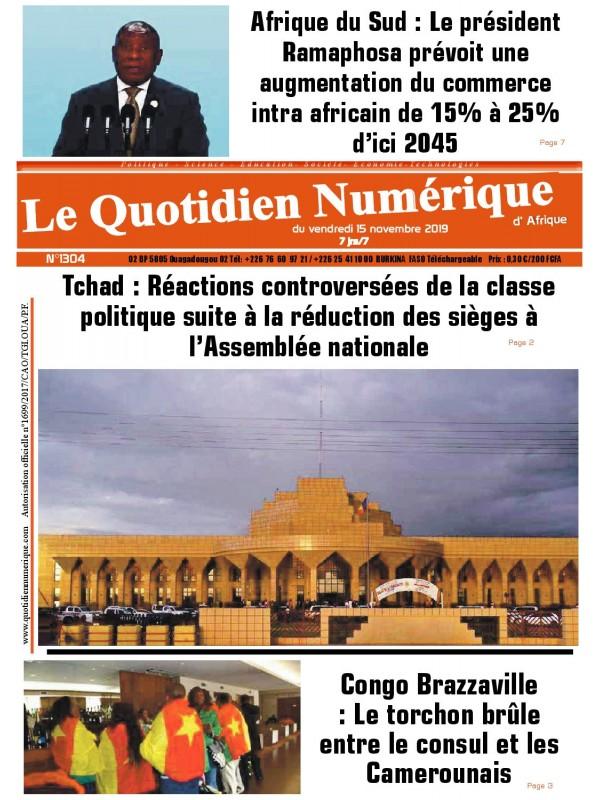 QUOTIDIEN NUMERIQUE D AFRIQUE  15/11/2019