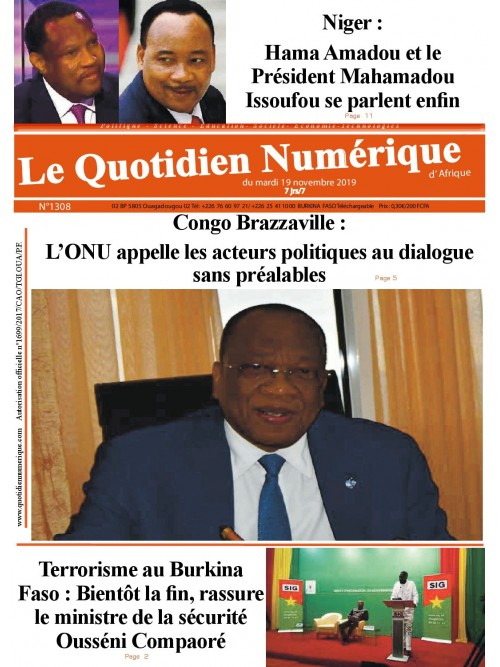 QUOTIDIEN NUMERIQUE D AFRIQUE  19/11/2019