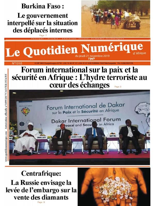 QUOTIDIEN NUMERIQUE D AFRIQUE  21/11/2019