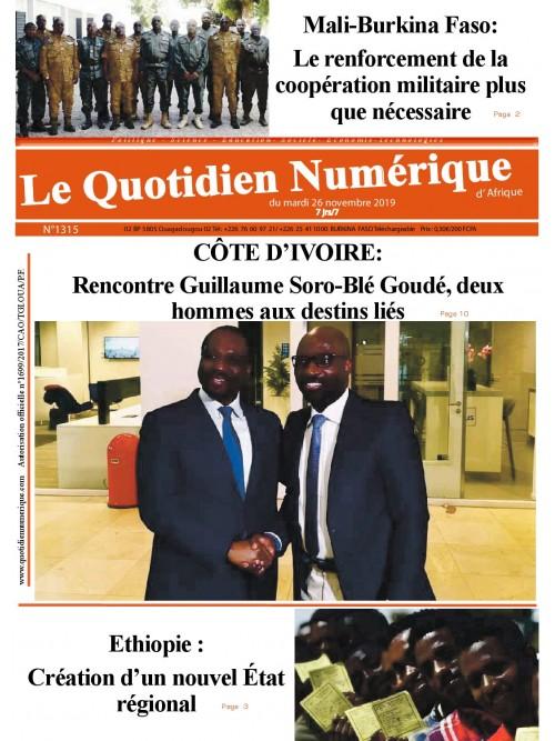 QUOTIDIEN NUMERIQUE D AFRIQUE  26/11/2019
