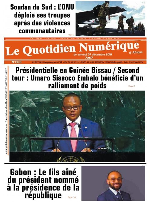 QUOTIDIEN NUMERIQUE D AFRIQUE  07/12/2019