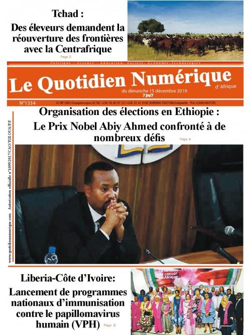 QUOTIDIEN NUMERIQUE D AFRIQUE  15/12/2019