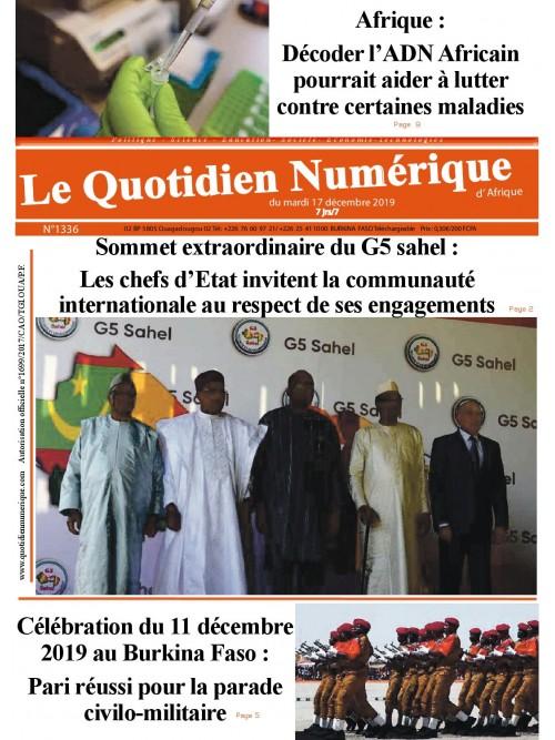 QUOTIDIEN NUMERIQUE D AFRIQUE  17/12/2019