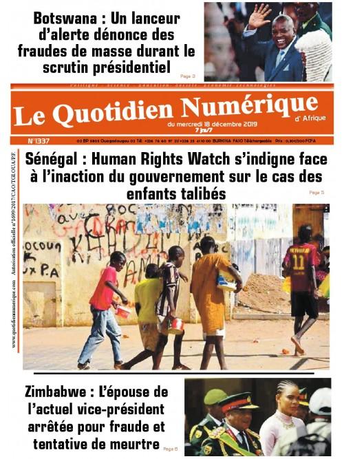QUOTIDIEN NUMERIQUE D AFRIQUE  18/12/2019