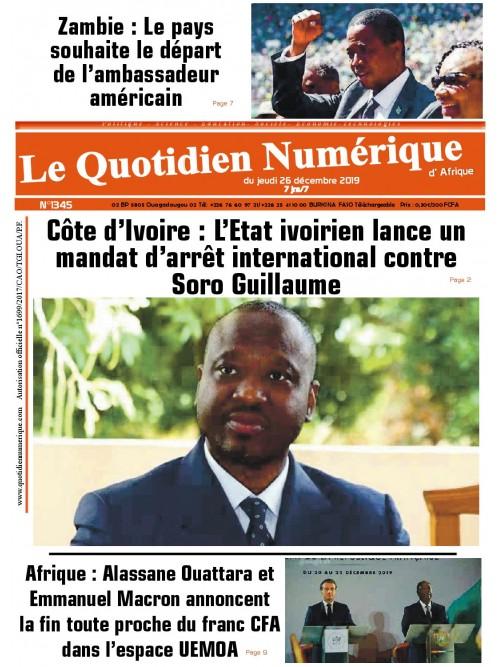 QUOTIDIEN NUMERIQUE D AFRIQUE  26/12/2019