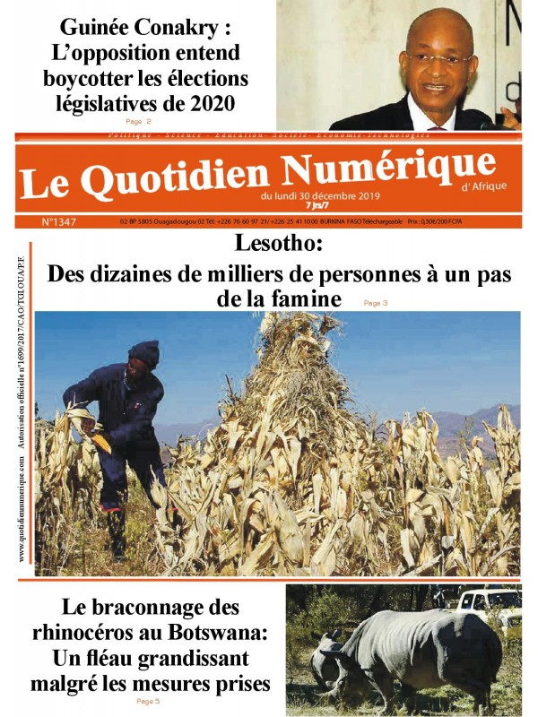 QUOTIDIEN NUMERIQUE D AFRIQUE  30/12/2019