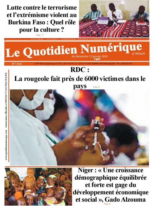 QUOTIDIEN NUMERIQUE D AFRIQUE  12/01/2020