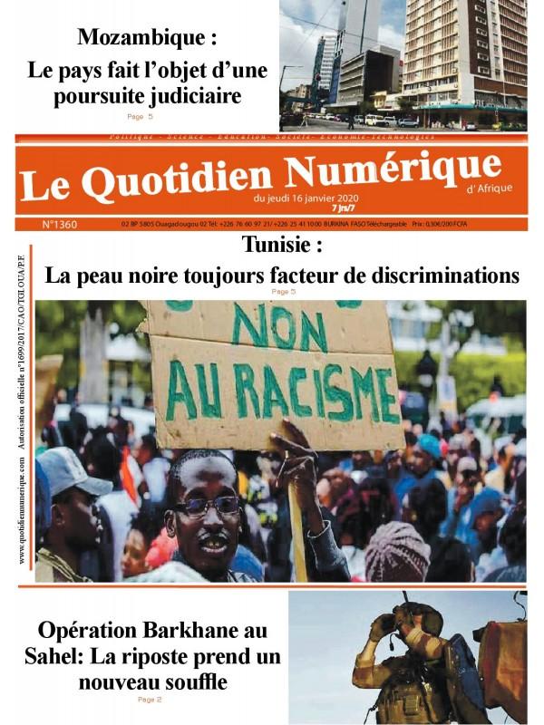 QUOTIDIEN NUMERIQUE D AFRIQUE  16/01/2020