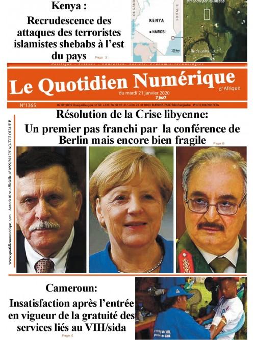 QUOTIDIEN NUMERIQUE D AFRIQUE  21/01/2020