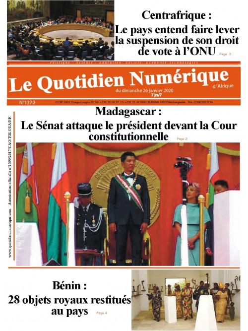 QUOTIDIEN NUMERIQUE D AFRIQUE  26/01/2020