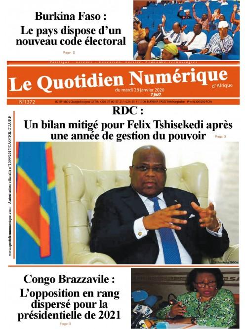QUOTIDIEN NUMERIQUE D AFRIQUE  28/01/2020