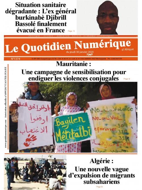 QUOTIDIEN NUMERIQUE D AFRIQUE  30/01/2020