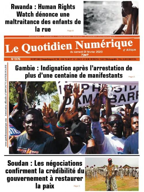 QUOTIDIEN NUMERIQUE D AFRIQUE  01/02/2020