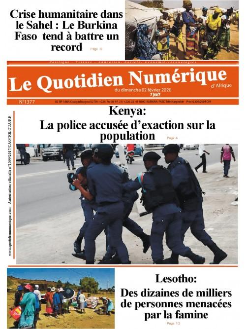 QUOTIDIEN NUMERIQUE D AFRIQUE  02/02/2020