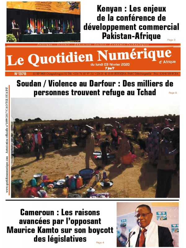QUOTIDIEN NUMERIQUE D AFRIQUE  03/02/2020